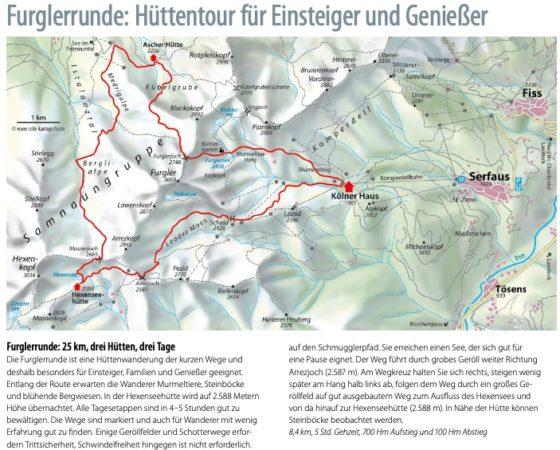 Furglerrunde: 25 km, drei Hütten, drei Tage